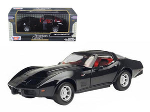 1979 Chevrolet Corvette Black 1/24 Diecast Car Model by Motormax