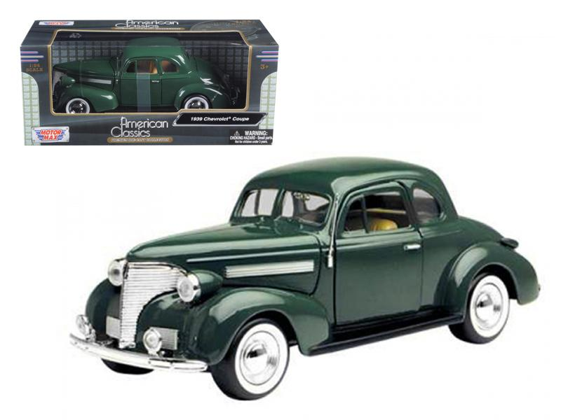 1939 Chevrolet Coupe Green 1/24 Diecast Model Car by Motormax