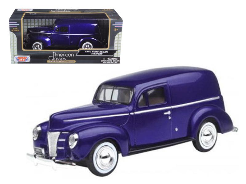 1940 Ford Sedan Delivery Purple 1/24 Diecast Car Model by Motormax