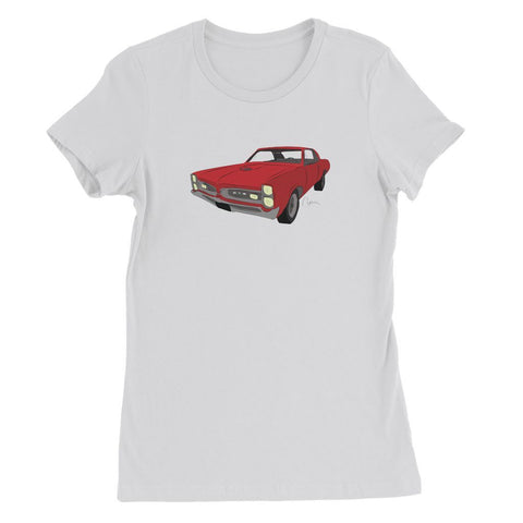 '66 GTO Red No Slogan Womens Favorite T-Shirt
