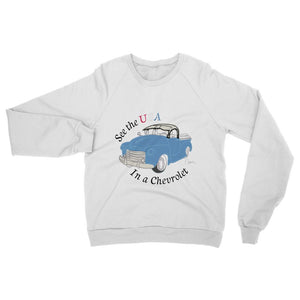 See the USA in a Chevrolet Truck Womens Sweatshirt