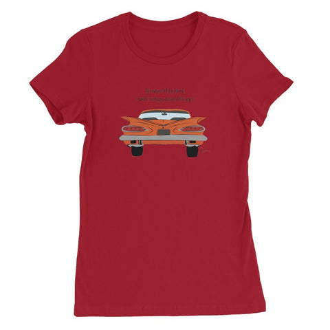 Orange Impala Slogan Front Womens Favorite T-Shirt