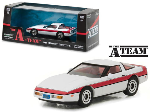 "1984 Chevrolet Corvette C4 \The A Team"" 1983-1987 TV Series 1/43 Diecast Model Car by Greenlight"""