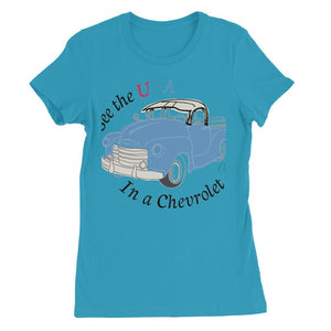 See the USA in a Chevrolet Truck Womens Favorite T-Shirt
