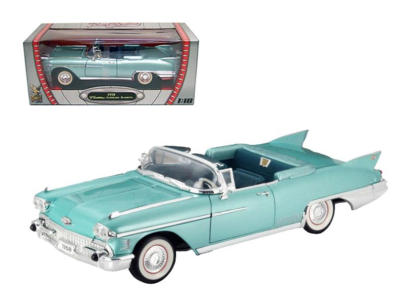 1958 Cadillac Eldorado Biarritz Green 1/18 Diecast Car by Road Signature