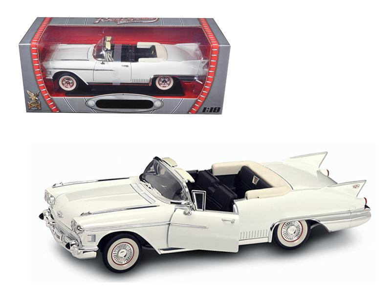 1958 Cadillac Eldorado Biarritz Car White 1/18 Diecast Model Car by Road Signature