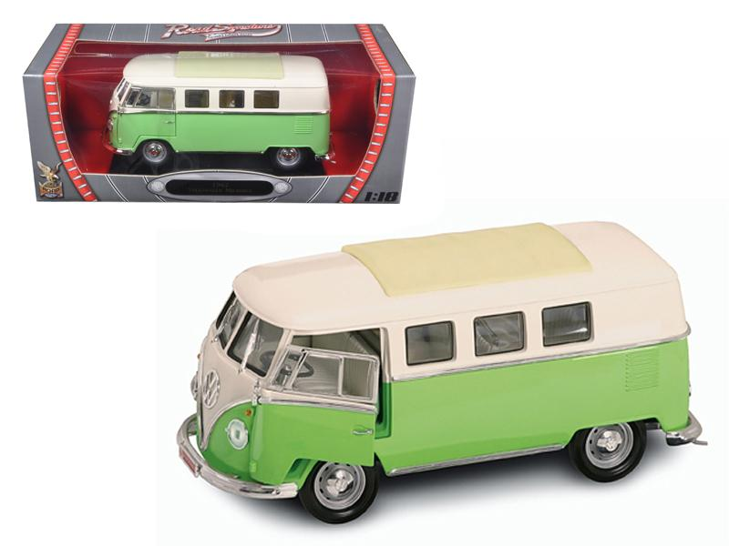 1962 Volkswagen Microbus Light Green 1/18 Diecast Car Model by Road Signature