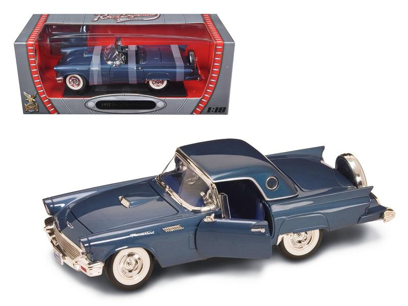 1957 Ford Thunderbird Blue 1/18 Diecast Model Car by Road Signature