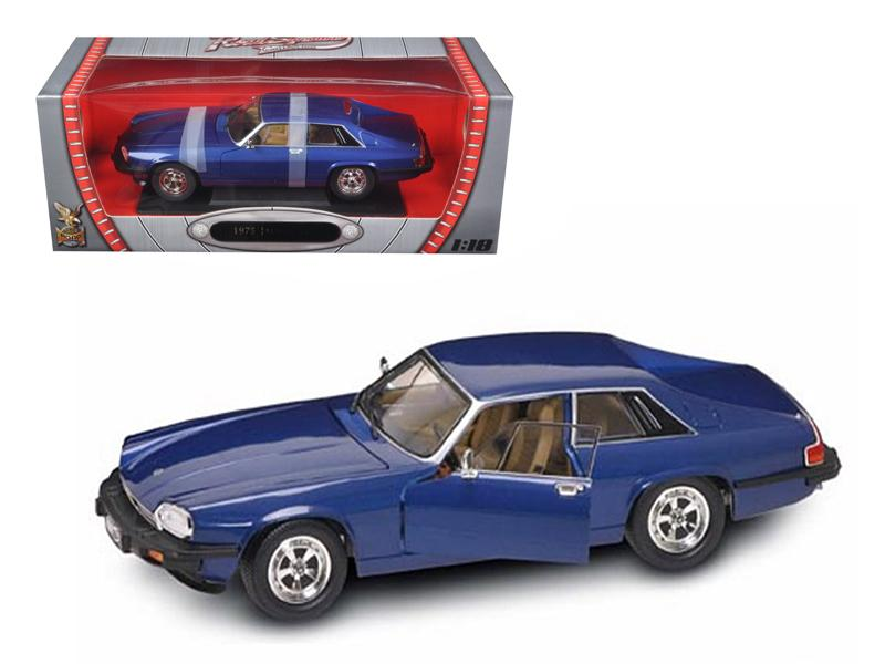 1975 Jaguar XJS Coupe Blue 1/18 Diecast Model Car by Road Signature