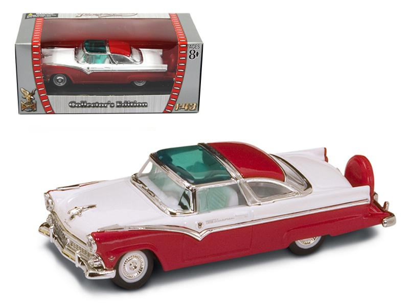 1955 Ford Crown Victoria Red 1/43 Diecast Model Car by Road Signature