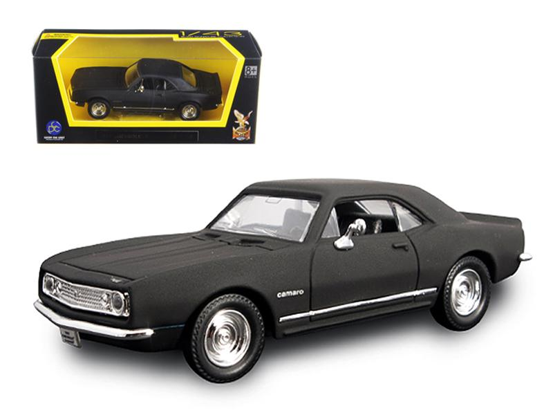 1967 Chevrolet Camaro Z28 Matt Black 1/43 Diecast Model Car by Road Signature