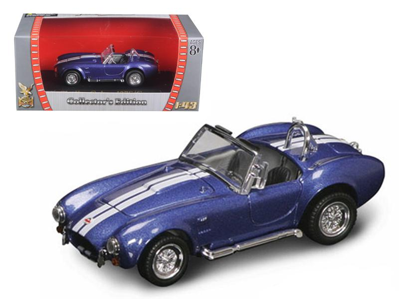 1964 Shelby Cobra 427 S/C Blue 1/43 Diecast Car by Road Signature