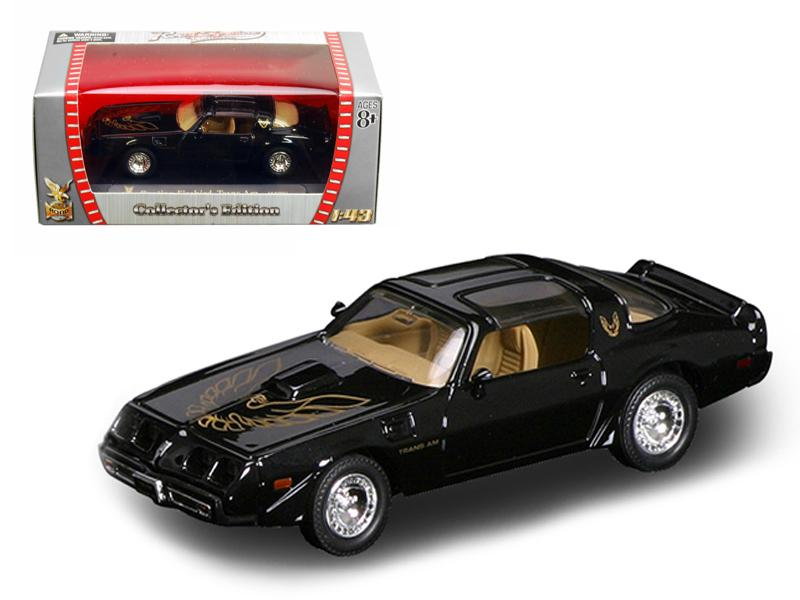 1979 Pontiac Firebird Trans Am Black 1/43 Diecast Car by Road Signature