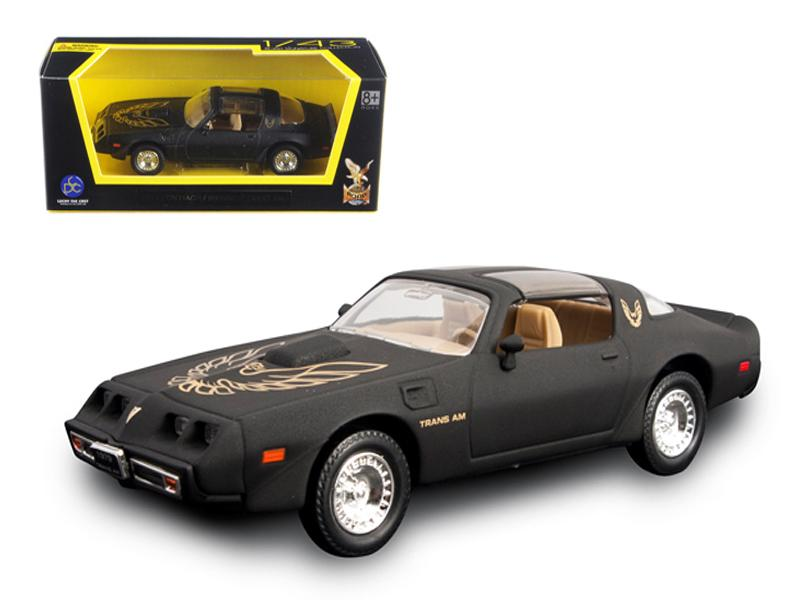 1979 Pontiac Firebird Trans Am Matt Black 1/43 Diecast Model Car by Road Signature