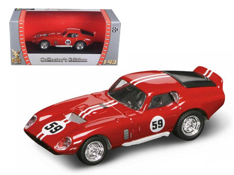 1965 Shelby Cobra Daytona #59 Red 1/43 Diecast Car by Road Signature