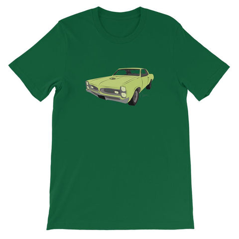 Image of '66 GTO Green No Slogan Short Sleeve T-shirt