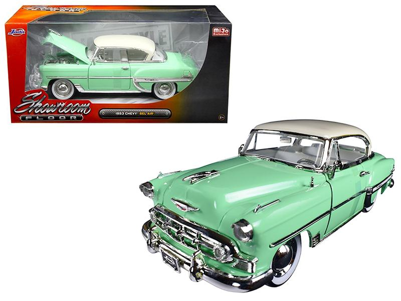 "1953 Chevrolet Bel Air Light Green \Showroom Floor"" 1/24 Diecast Model Car by Jada"""