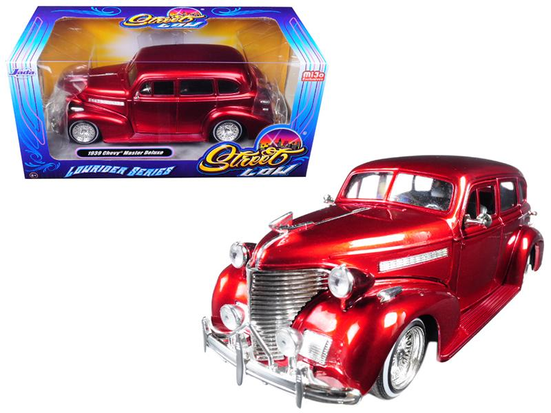"1939 Chevrolet Maser Deluxe Red \Lowrider Series"" Street Low 1/24 Diecast Model Car by Jada"""