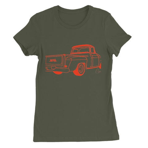 Image of Red GMC Truck Womens Favorite T-Shirt