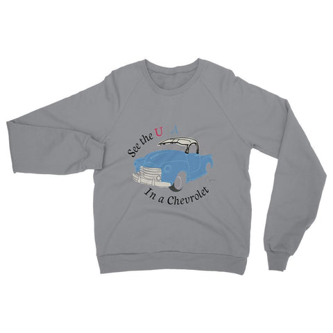 Image of See the USA in a Chevrolet Truck Womens Sweatshirt