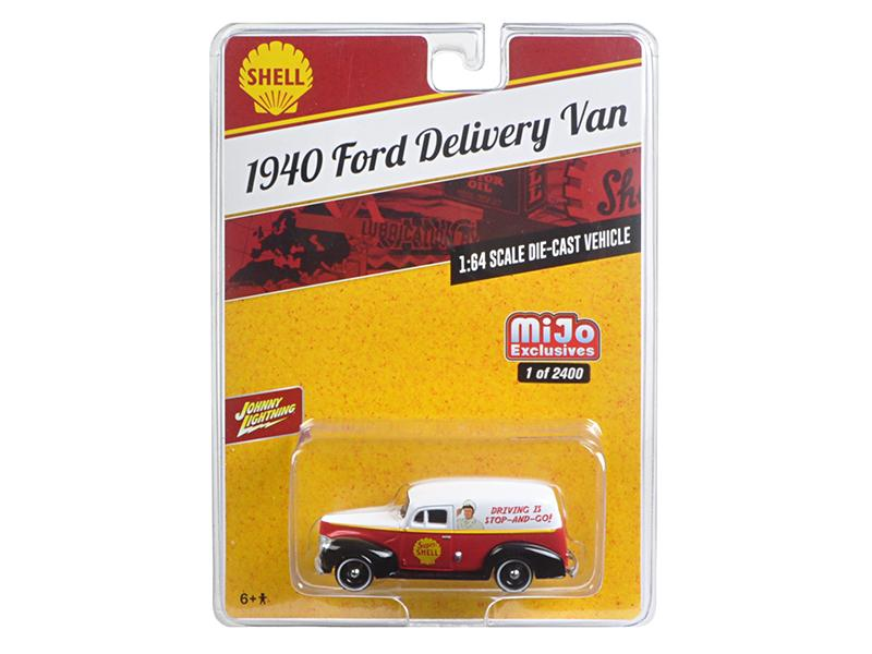 "1940 Ford Delivery Van \Shell"" 1/64 Diecast Model Car by Johnny Lightning"""
