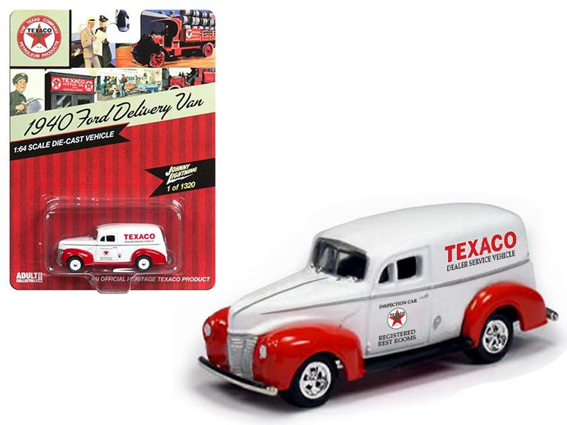 "1940 Ford Delivery Van \Texaco""1/64 Diecast Model Car by Johnny Lightning"""