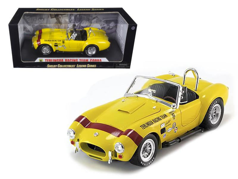 1965 Shelby Cobra Terlingua Racing Team Yellow 1/18 Diecast Car Model by Shelby Collectibles
