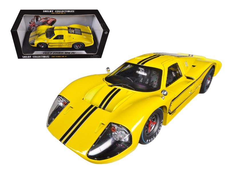 1967 Ford GT MK IV Yellow 1/18 Diecast Car Model by Shelby Collectibles