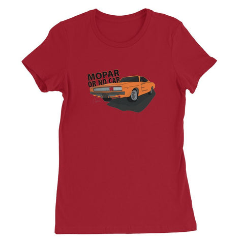 '68 Charger Orange Front Print Womens Favorite T-Shirt