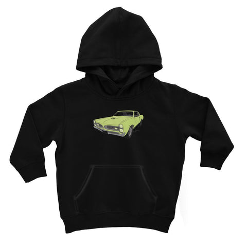 Image of '66 GTO Green No Slogan Kids Hoodie