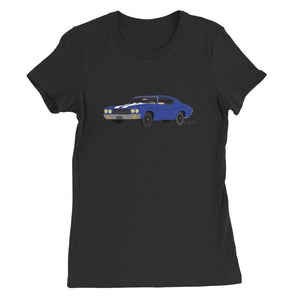 '70 Chevelle Blue No Slogan Womens Favorite T-Shirt