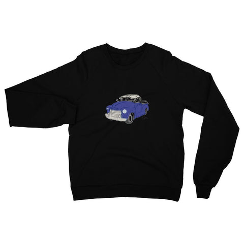 Image of Chevy Blue Truck Front Print Sweatshirt