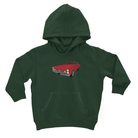 Image of '66 GTO Red No Slogan Kids Hoodie