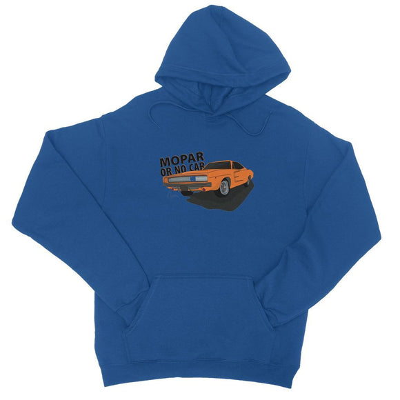 '68 Charger Orange Front Print College Hoodie
