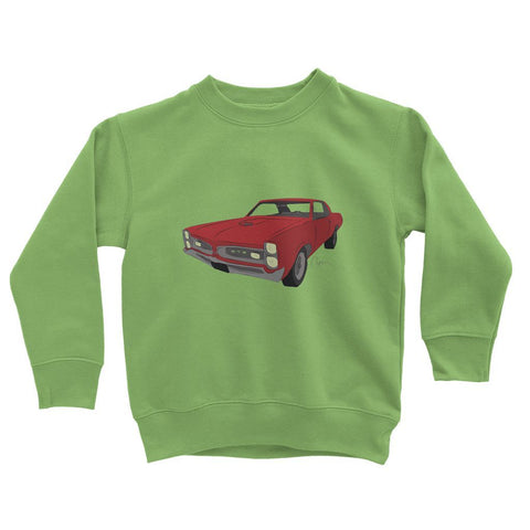 '66 GTO Red No Slogan Kids Sweatshirt