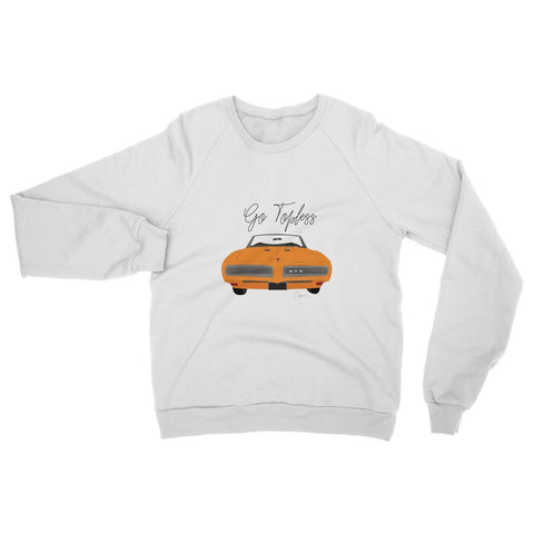 '68 GTO Orange Front Print Womens Sweatshirt
