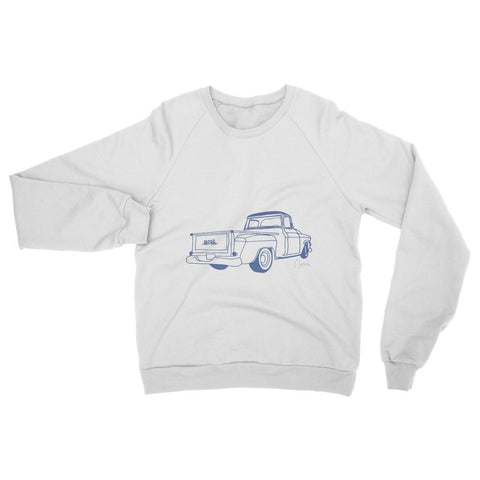 Image of Blue GMC Truck Womens Sweatshirt