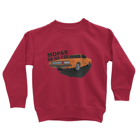 '68 Charger Orange Front Print Kids Sweatshirt