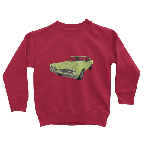 Image of '66 GTO Green No Slogan Kids Sweatshirt