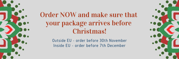 Do you want your order before Christmas? Order NOW!