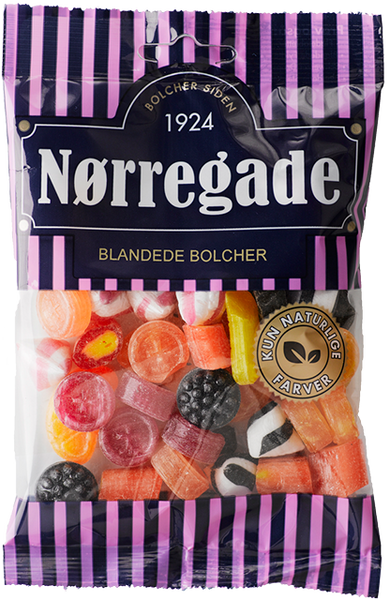 Blandede Bolcher - mix of liquorice and fruit taste
