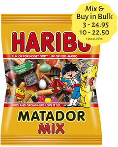 Matador Mix - winegum / liquorice mix no. 1 in Denmark