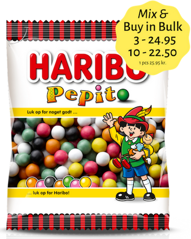 Pepito (Pinocchio kugler) - sugar covered / sweet liquorice