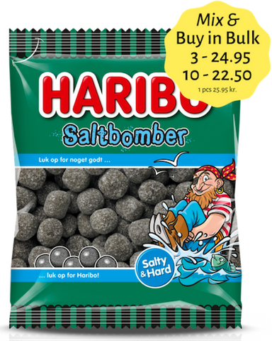 Saltbomber - salty liquorice covered with sugar