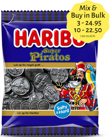 Super Piratos - salty liquorice no. 1 in Denmark