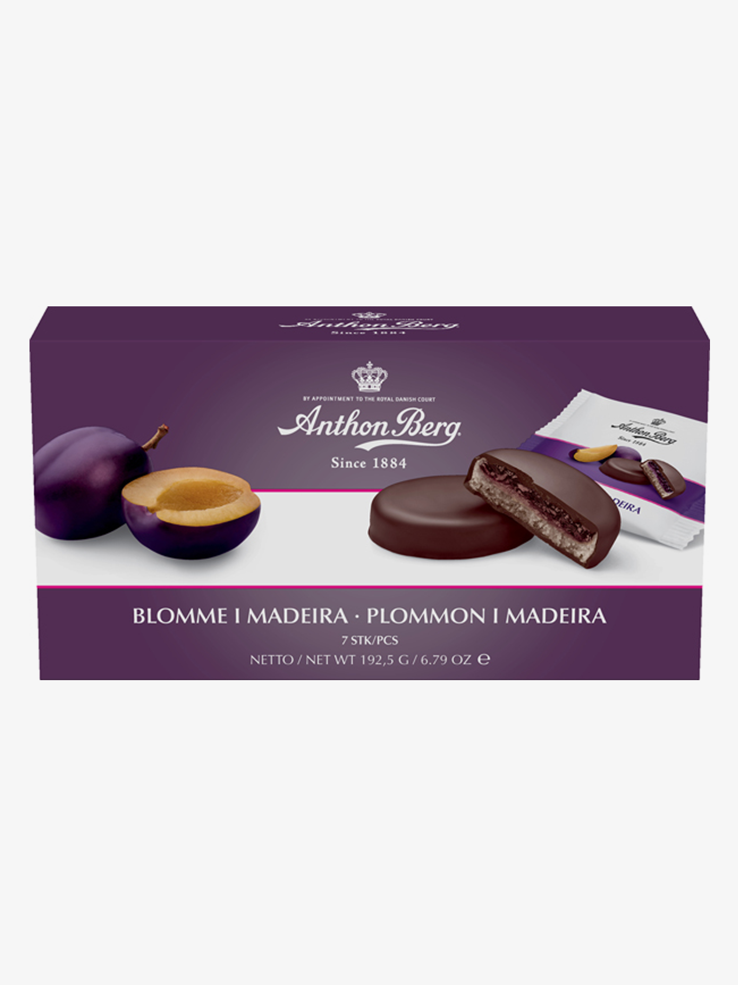 Blomme i Madeira - dark chocolate with marzipan and plum