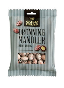 Dronninge Mandler Lakrids - almonds, liquorice - Best before date 5 September 2020