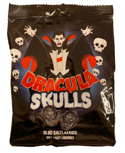 Dracula Skulls - soft salty liquorice - Best before date19 December 2020