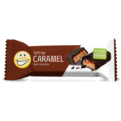 Easis Soft bar Karamel mørk - protein bar sugarfree