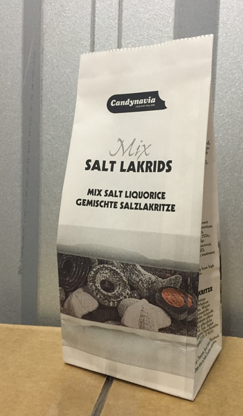 Salt Lakrids Mix in Paperbag - salty liquorice mix - Best before date 5 September 2020